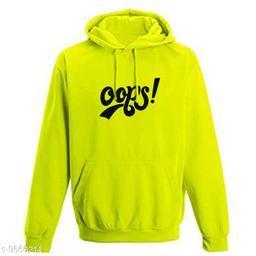Divra Clothing Unisex Regular Fit Oops Printed Cotton Hoodie