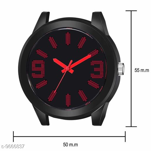 Black Dial Red  Rubber Belt Analogue MT Watch for Men's and Boy's