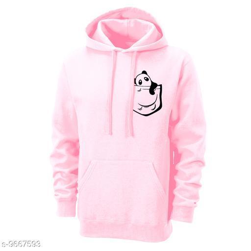 Divra Clothing Unisex Regular Fit Pocket Panda Printed Cotton Hoodie