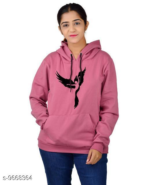 Divra Clothing Unisex Regular Fit Dancing Girl Printed Cotton Hoodie