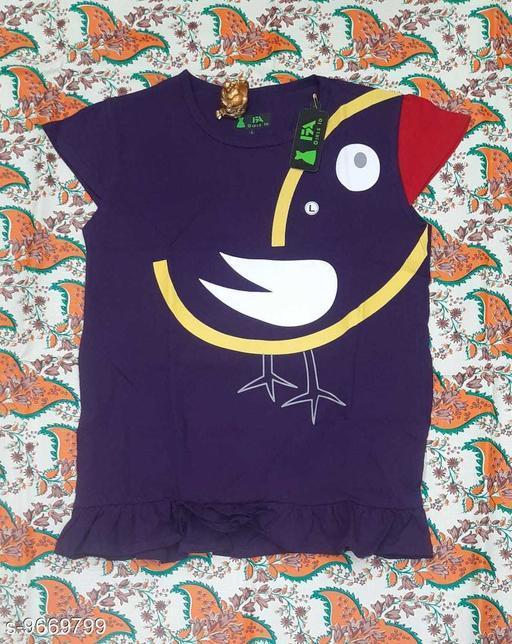 Tshirts NEW MODERN TOPS  *Fabric* Cotton  *Multipack* Single  *Sizes*  12-13 Years  *Sizes Available* 12-13 Years *    Catalog Name: Cute Elegant Girls Tshirts CatalogID_1712574 C62-SC1143 Code: 712-9669799-