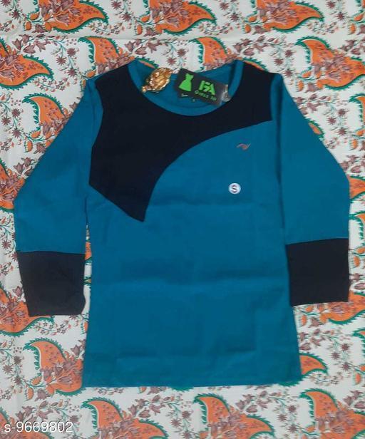 Tshirts NEW MODERN TOPS  *Fabric* Cotton  *Multipack* Single  *Sizes*  12-13 Years  *Sizes Available* 12-13 Years *    Catalog Name: Cute Elegant Girls Tshirts CatalogID_1712574 C62-SC1143 Code: 222-9669802-