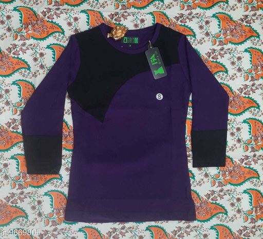 Tshirts NEW MODERN TOPS  *Fabric* Cotton  *Multipack* Single  *Sizes*  12-13 Years  *Sizes Available* 12-13 Years *    Catalog Name: Cute Elegant Girls Tshirts CatalogID_1712574 C62-SC1143 Code: 222-9669805-