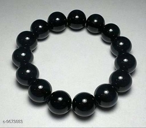 Jewellery Black Jade Bracelet Gemstone Bracelet Gemstone Beaded Bracelet Stretch Bracelet Yoga Bracelet  *Base Metal* Synthetic  *Plating* No Plating  *Stone Type* Quartz  *Type* Gemstone  *Multipack* 1  *Sizes* Free Size  *Sizes Available* Free Size *    Catalog Name: Casual Latest Men Jewellery CatalogID_1713445 C65-SC1227 Code: 013-9673883-