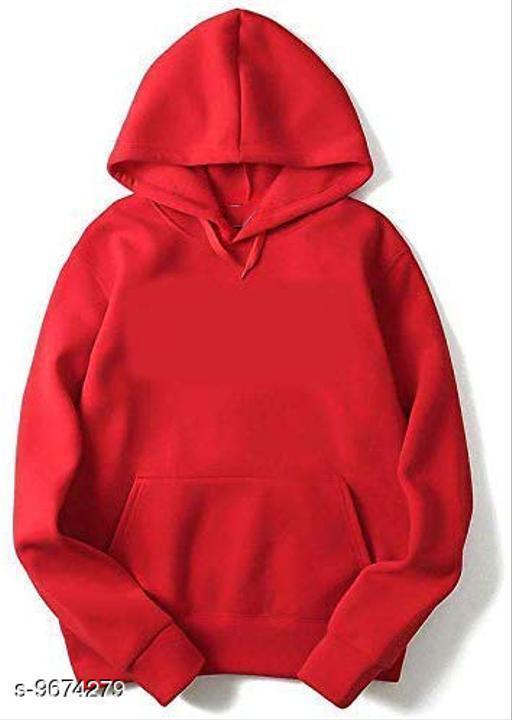Divra Clothing Unisex Regular Fit Plain Printed Cotton Hoodie