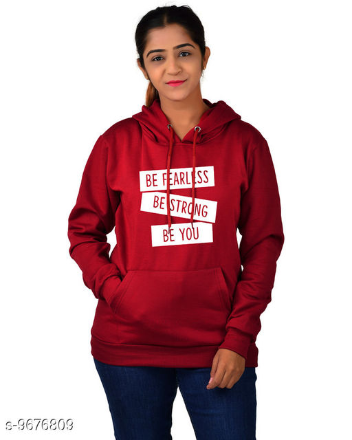 Divra Clothing Unisex Regular Fit Be Strong Be You Printed Cotton Hoodie