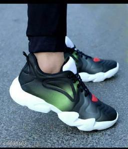 Stylish Men's Green Sports Shoes