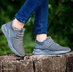 LeeGalaxy Gray Running Men's Sports Shoes