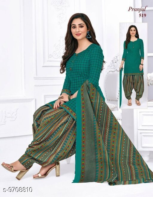 Suits & Dress Materials Pranjul Readymade Cotton Salwar Suit  *Top Fabric* Cotton + Top Length  *Bottom Fabric* Cotton + Bottom Length  *Dupatta Fabric* Cotton + Dupatta Length  *Type* Un Stitched  *Pattern* Printed  *Multipack* Single  *Sizes Available* Free Size *    Catalog Name: Pranjul Readymade Cotton Salwar Suit CatalogID_1721124 C74-SC1002 Code: 448-9708810-