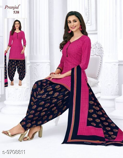 Suits & Dress Materials Pranjul Readymade Cotton Salwar Suit  *Top Fabric* Cotton + Top Length  *Bottom Fabric* Cotton + Bottom Length  *Dupatta Fabric* Cotton + Dupatta Length  *Type* Un Stitched  *Pattern* Printed  *Multipack* Single  *Sizes Available* Free Size *    Catalog Name: Pranjul Readymade Cotton Salwar Suit CatalogID_1721124 C74-SC1002 Code: 448-9708811-