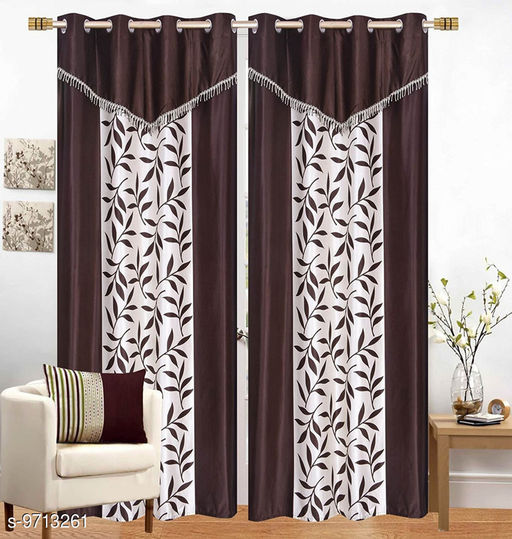 Curtains & Sheers Kolaveri4V  *Material* Polyester  *Multipack* 2  *Sizes* 5 Feet (Length Size  *Sizes Available* 5 Feet *    Catalog Name: Elite Classy Curtains & Sheers CatalogID_1722144 C54-SC1116 Code: 984-9713261-
