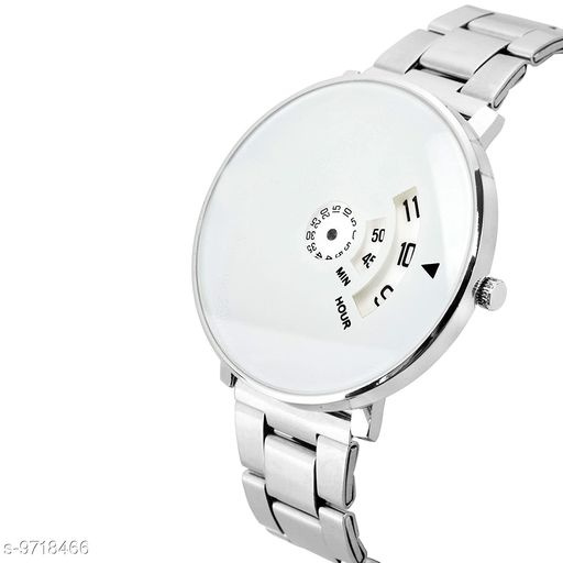 WHITE PAIDU  Casu al Analoge White Dial Men's Stainless Steel Watch- S.S.V_Paidu WhitE (1 PCS)