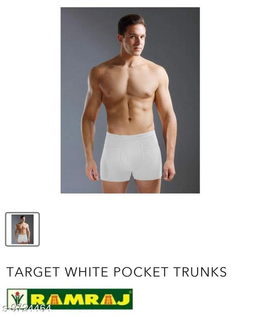 Trunks RAMRAJ PANTIES  *Fabric* Cotton  *Multipack* 2  *Sizes*   *30 (Waist Size* 32 in, Length Size  *Sizes Available* 30 *    Catalog Name: Modern Men Trunks CatalogID_1724516 C68-SC1216 Code: 973-9724464-