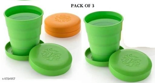 Unbreakable Magic Cup/Folding Glass/Pocket Glass for Traveling/Picnic Glass Set of 3