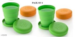 Unbreakable Magic Cup/Folding Glass/Pocket Glass for Traveling/Picnic Glass Set of 4