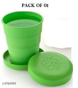 Unbreakable Magic Cup/Folding Glass/Pocket Glass for Traveling/Picnic Glass Set of 1