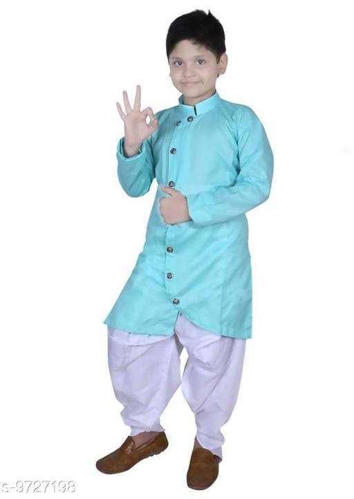 Boys cotton blend kurta dhoti set