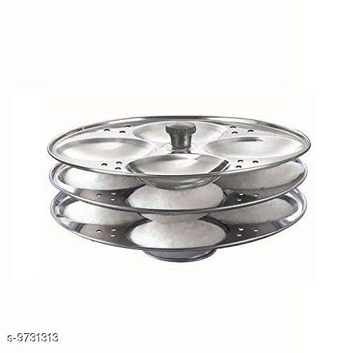 Idli Maker Stainless Steel Idli Stand 3 Plate  *Material* Stainless steel  *Sizes Available* Free Size *    Catalog Name: Latest Idli Maker CatalogID_1725938 C137-SC1598 Code: 003-9731313-