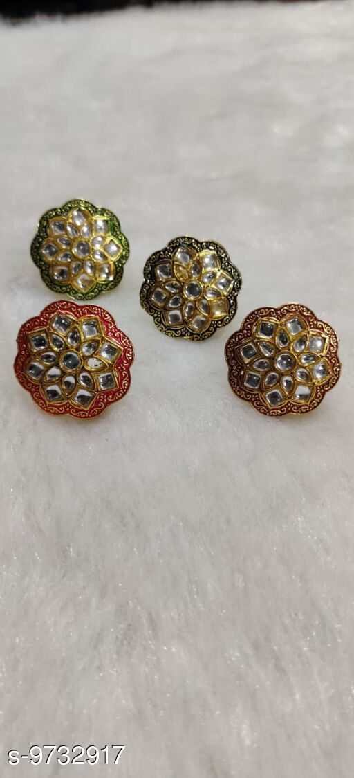 Rings Attractive Rings  *Base Metal* Alloy  *Multipack* 4  *Sizes*   *Sizes Available* Free Size *    Catalog Name: Sizzling Glittering Rings CatalogID_1726274 C77-SC1096 Code: 213-9732917-