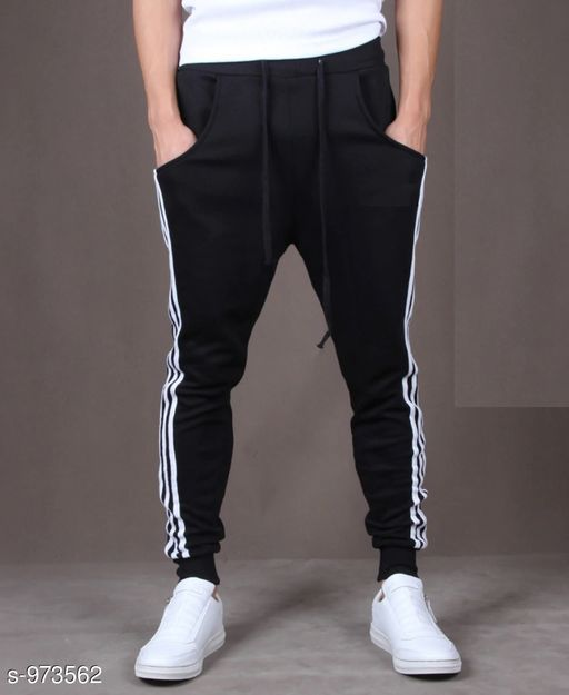Track Pants Men's Casual Solid Track Pant  *Fabric* Spun Blend  *Waist Size* S - 28 in, M - 30 in, L - 32 in, XL - 34 in, XXL - 36 in  *Length* Up to 38 in  *Type* Stitched  *Description* It Has 1 Piece Of Men's Track Pant  *Pattern* Solid  *Sizes Available* S, M, L, XL, XXL *    Catalog Name: Mens Casual Solid Track Pants Vol 5 CatalogID_115274 C69-SC1214 Code: 182-973562-