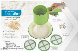 Flour Sifter With 3 Sieves