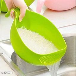 Rice, Fruits, Vegetable Washing Bowl (Green)