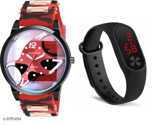 Watches Trendy Watches  *Strap Material* Synthetic  *Display Type* Analogue  *Size* Free Size  *Multipack* 2 ALL PRODUCT BELOWE GST 5 % HSN CODE 9105 1.LETEST ANALOGUE MULTICOLOUR WATCH FOR MENS PRICE-179 SIZE-FREE SIZE MATERIAL-SYNTETIC SKU-JME-FOSSIL-BROWN-M2-BLACK-COMBO 2LETEST ANALOGUE MULTICOLOUR WATCH FOR MENS PRICE-179 SIZE-FREE SIZE MATERIAL-SYNTETIC SKU-JME-FOSSIL-GREEN-M2-BLACK-COMBO 3.LETEST ANALOGUE MULTICOLOUR WATCH FOR MENS PRICE-179 SIZE-FREE SIZE MATERIAL-SYNTETIC SKU-JME-FOSSIL-RED-M2-RED-COMBO 4.LETEST ANALOGUE MULTICOLOUR WATCH FOR MENS PRICE-179 SIZE-FREE SIZE MATERIAL-SYNTETIC SKU-JME-FOSSIL-RED-M2-BLACK-COMBO  *Sizes Available* Free Size *    Catalog Name: Classic Men Watches CatalogID_1730556 C65-SC1232 Code: 752-9751494-