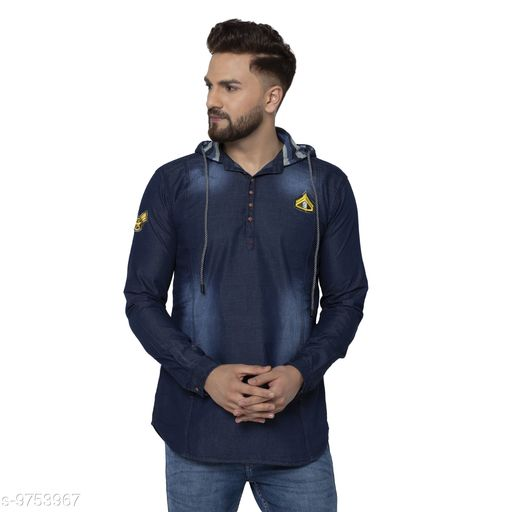 Sweatshirts MENS DENIM HOODIE SWEATSHIRT  *Fabric* Denim  *Sizes*  M  *Sizes Available* M, L, XL, XXL *    Catalog Name: Trendy Fashionista Men Sweatshirts CatalogID_1731145 C70-SC1207 Code: 897-9753967-