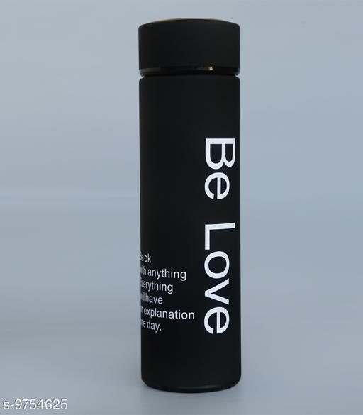 Be Love black Stainless Steel BPA Free 500 ml Flask  (Pack of 1, Black, Steel)