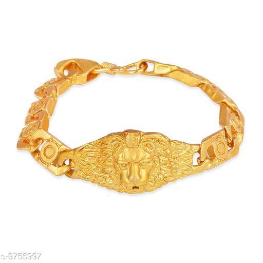 Lion Men's Brass Bracelet