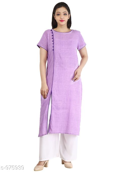 Kurtis & Kurtas Contemporary Cotton Slub Women's Kurti  *Fabric* Cotton Slub  *Sleeves* Half Sleeves Are Included  *Size* M - 38 in, L - 40 in, XL - 42 in, XXL - 44 in  *Length* Up To 46 in  *Type* Stitched  *Description* It Has 1 Piece Of Women's Long Kurti  *Pattern* Solid  *Sizes Available* M, L, XL, XXL *    Catalog Name: Inaaya Contemporary Cotton Slub Women's Kurtis Vol 1 CatalogID_115582 C74-SC1001 Code: 183-975939-