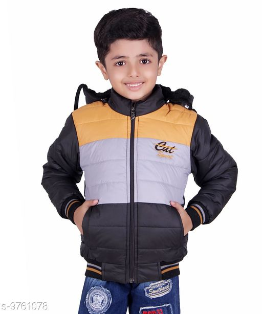 Oh Yes Full Sleeves Multicolor Solid Boys Jacket