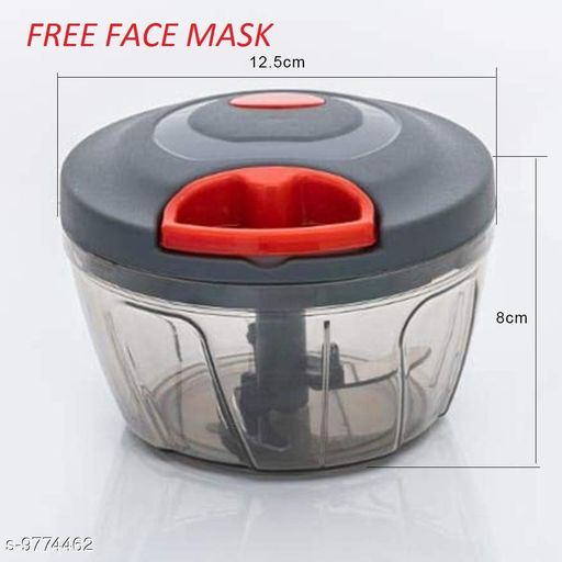 Handy Mini Plastic Chopper with 3 Blades ( FREE 5 LAYER FACE MASK )
