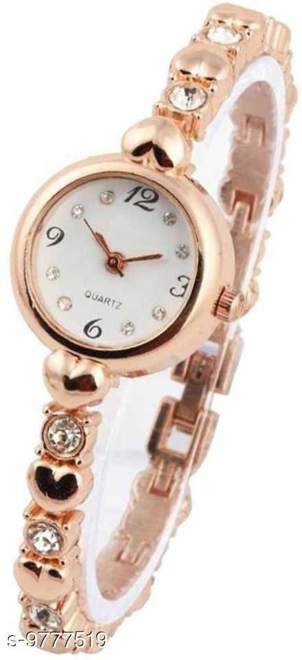 New Latest Collection Rose Gold Bracelet Watch For Women