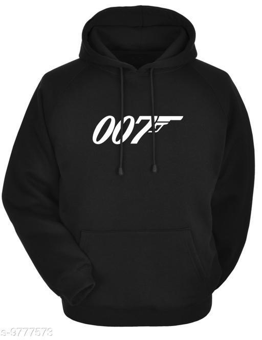 Divra Clothing Unisex Regular Fit 007 Printed Cotton Hoodie