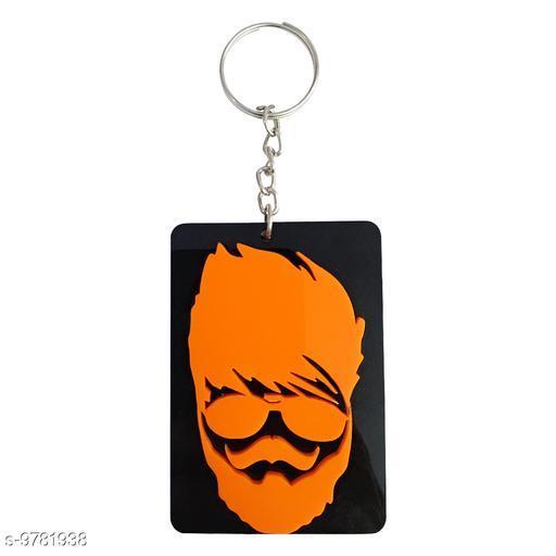 Omaya  Beard Man Face keyring Key chain