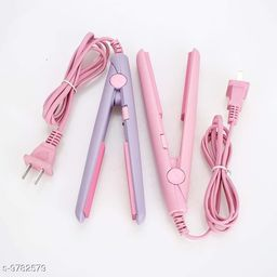 Mini Portable Electronic Hair Straightener pack of 2pc( Colors may very)