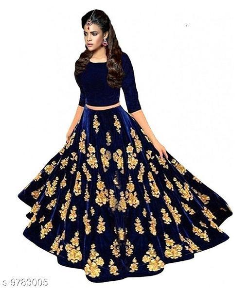 Lehengas Bollywood style designer bridal lahenga choli  *Topwear Fabric* Satin  *Bottomwear Fabric* Satin  *Dupatta Fabric* Satin  *Set type* Choli And Dupatta  *Top Print or Pattern Type* Embroidered  *Bottom Print or Pattern Type* Embroidered  *Dupatta Print or Pattern Type* Embroidered  *Sizes*   *Un Stitched (Lehenga Waist Size* 44 in, Lehenga Length Size  *Semi Stitched (Lehenga Waist Size* 44 in, Lehenga Length Size  *Free Size (Lehenga Waist Size* 44 in, Lehenga Length Size  *Sizes Available* Free Size, Semi Stitched *    Catalog Name: Aakarsha Fabulous Women Lehenga CatalogID_1737656 C74-SC1005 Code: 356-9783005-