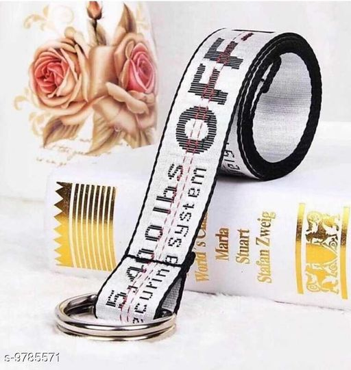 Styles Men  offwhite Belt  with Grey colour