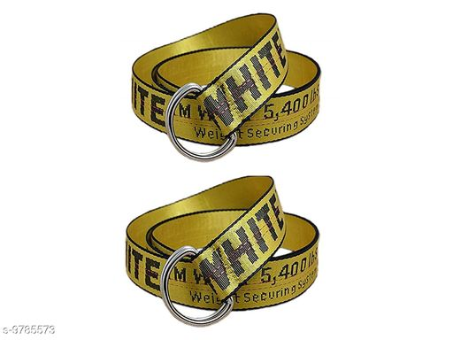 Styles Men  offwhite Belt  with Combo Yellow colour