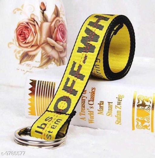 Styles Men  offwhite Belt  with yellow colour