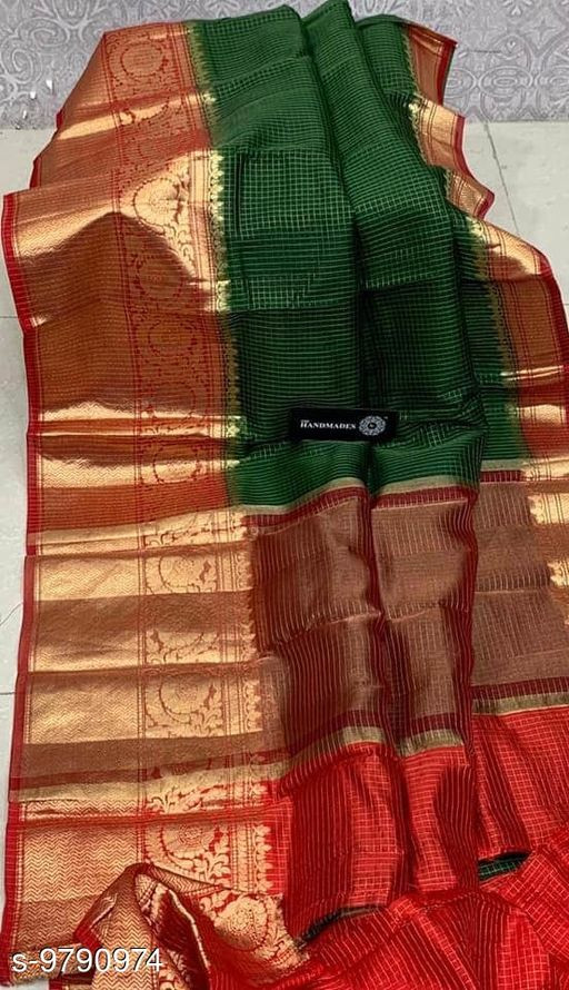 check border fancy saree