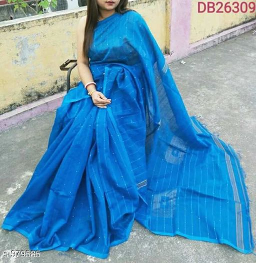 Sarees Alluring Cotton Silk Handloom Saree  *Fabric* Saree - Cotton Silk, Blouse - Cotton Silk  *Size* Saree Length With Running Blouse - 6.3 Mtr  *Work* Handloom  *Sizes Available* Free Size *   Catalog Rating: ★4.1 (485)  Catalog Name: Ciquence Cotton Silk Handloom Sarees Vol 1 CatalogID_116104 C74-SC1004 Code: 184-979585-