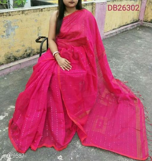 Sarees Alluring Cotton Silk Handloom Saree  *Fabric* Saree - Cotton Silk, Blouse - Cotton Silk  *Size* Saree Length With Running Blouse - 6.3 Mtr  *Work* Handloom  *Sizes Available* Free Size *   Catalog Rating: ★4.1 (485)  Catalog Name: Ciquence Cotton Silk Handloom Sarees Vol 1 CatalogID_116104 C74-SC1004 Code: 124-979587-