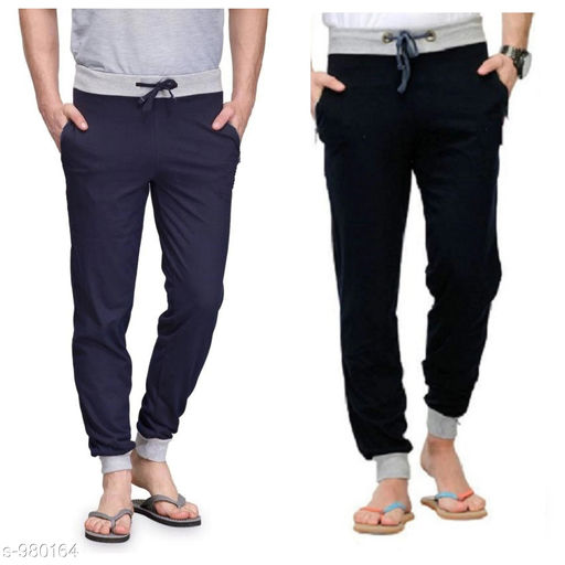 Men's Casual Solid Track Pants (Pack of 2)