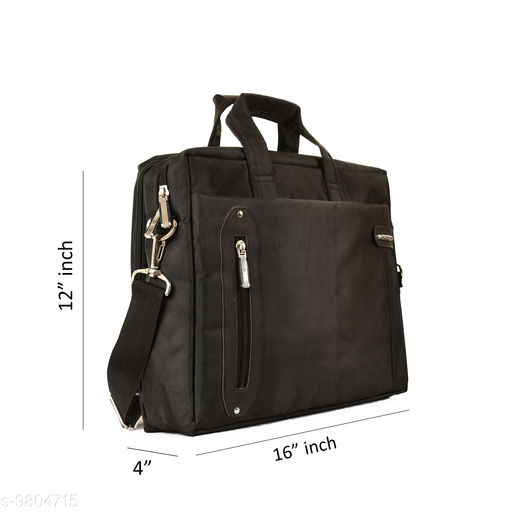 Laptop Bags & Sleeves Graceful Attractive Unisex Laptop Bags  *Material* Nylon  *No. of Compartments* 5  *Pattern* Solid  *Multipack* 1  *Sizes*   *Free Size (Length Size* 16 in, Width Size  *Sizes Available* Free Size *    Catalog Name: Graceful Attractive Unisex Laptop Bags CatalogID_1742264 C73-SC1080 Code: 505-9804715-