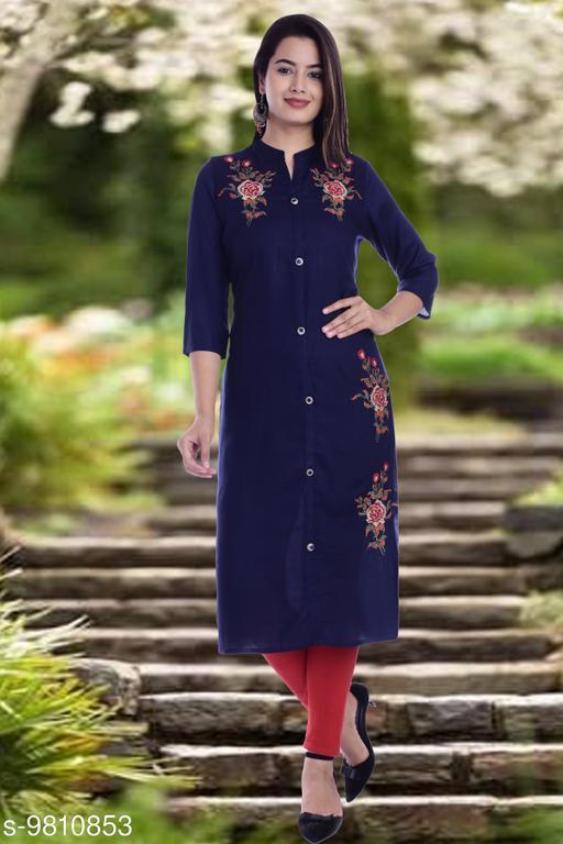 Women's Embroidered Viscose Rayon Kurti