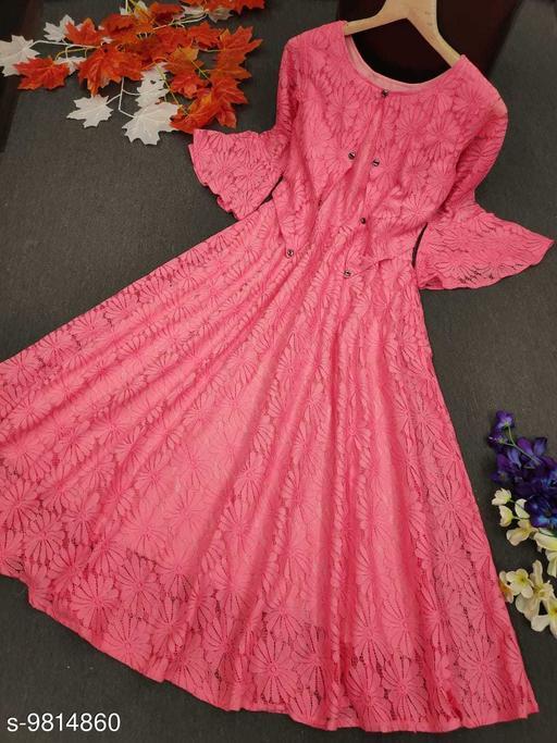 Fancy Women's Western Net Dress For Women