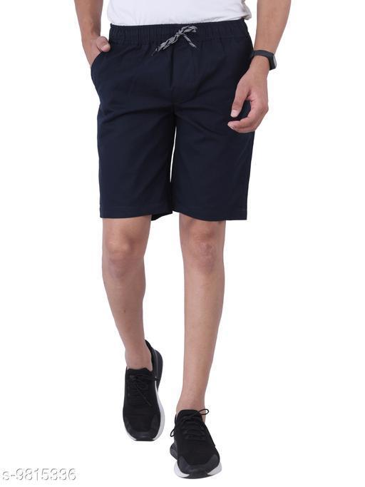 Affray Men's Blue Elastic Chino Shorts