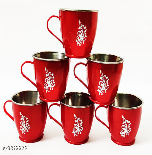 Kids Cups & mugs  Kids Cups & mugs   *Material* stainless steel  *Pack* Pack of 6  *Sizes Available* Free Size *    Catalog Name:  Kids Cups & mugs  CatalogID_1596509 C138-SC1670 Code: 042-9819972-
